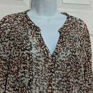 Ann Taylor Loft Pullover Blouse Size Size XL